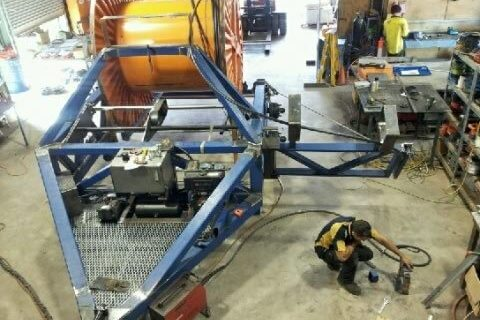 10 ton cable drum trailer