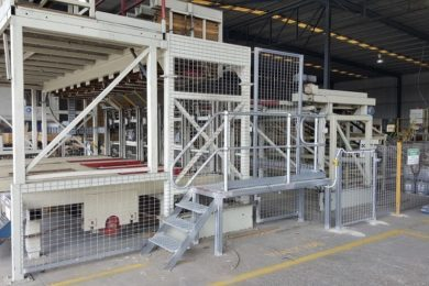 Fabricate and install mesh guarding around timber stacker machine. - jzee services brisbane qld